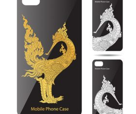 God bird art pattern phone cases cover vector