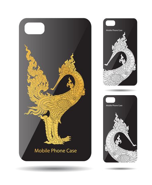 God bird art pattern phone cases cover vector