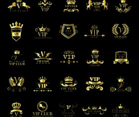 Golden VIP logo vector