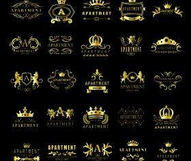 Golden apartment logo vector