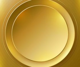 Golden arc abstract background vector