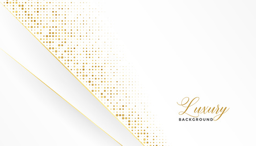 Golden dots with white background vector