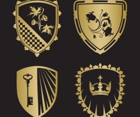 Golden heraldry vector