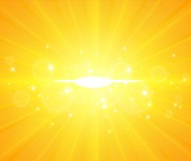 Golden rays background vector