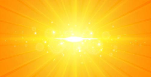 Golden rays background vector