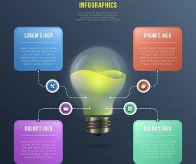 Good idea business infographic vector