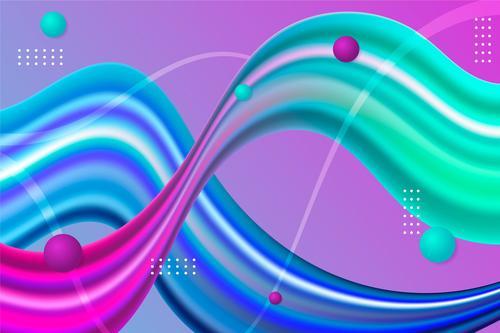 Gradient fluid background vector