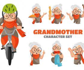 Grandmother cartoon vector