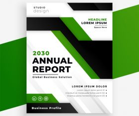 Green and black cover brochure vector