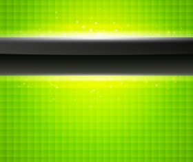Green squares and black stripes background vector
