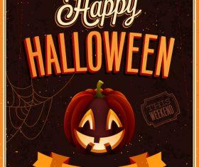 Greeting card halloween vector