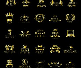 HOTEL golden logo vector