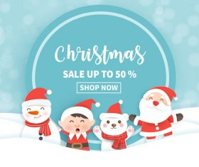 Half price sale christmas flyer vector