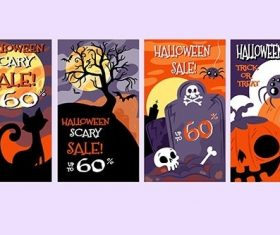 Halloween Boo Instagram Stories Collection vector