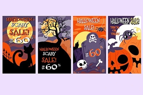Halloween Boo Instagram Stories Collection vector