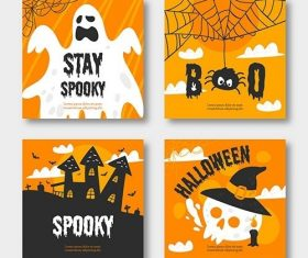 Halloween Instagram Post Collection vector