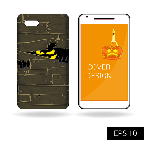 Halloween art pattern phone cases cover vector