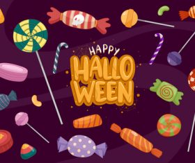 Halloween candy background illustration vector
