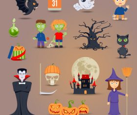 Halloween cartoon element vector