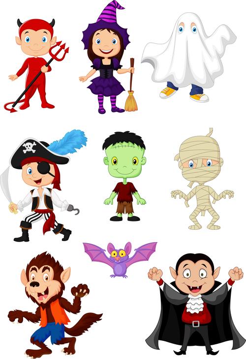 Halloween character illustration vector