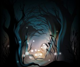 Halloween concept illustration vector