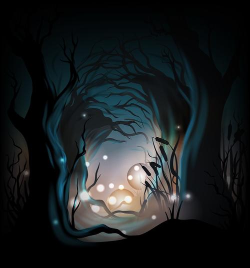 Halloween concept illustration vector