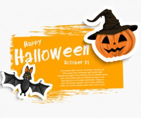 Halloween illustration card vector