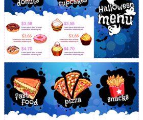 Halloween menu vector