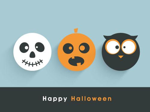 Halloween monster silhouette vector