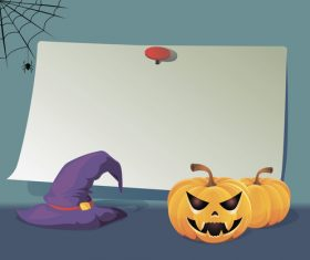 Halloween paper board vector