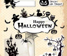 Halloween paper cut art vector