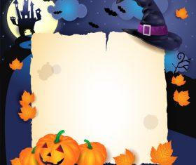 Halloween parchment castleback qua vector