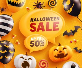 Halloween sale vector