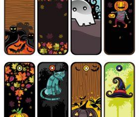 Halloween tags set vector