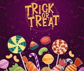 Halloween various candies vector
