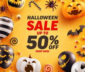 Happy halloween promotion vector