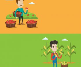 Harvest flat design vector