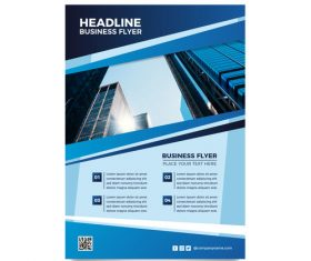 Headline business flyer vector
