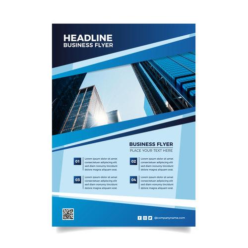 Headline business flyer vector