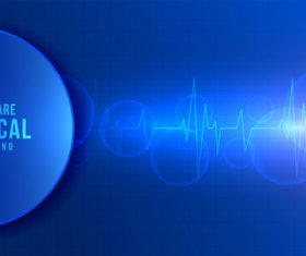 Healthcare medical dark blue background vector