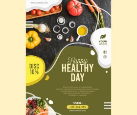 Healthy day flyers vector
