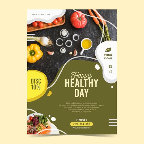 Healthy day flyers vector