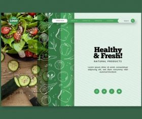 Healthy food landing page vector