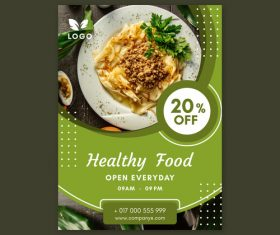 Healthy food open everyday flyers vector