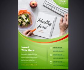 Healthy recipe flyers vector