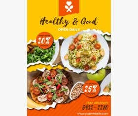 Healthy salad flyers vector