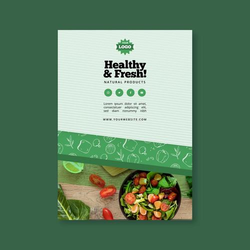 Healthy weight loss green food vector