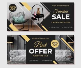 Holiday furniture promotional flyer vector