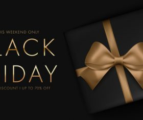 Holiday sale black friday flyer vector