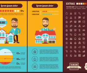 Home sales infographic vector